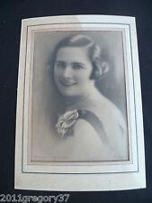 Estampe photographie Portrait ancien élégante femme années 1920/30