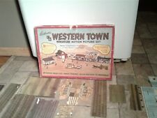 Vintage 1950s C And B Western Town Miniature Motion Picture Set(Not Complete)