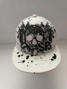 Southpole Brand Baseball Cap Hat Black White Graffiti S/M Youth Size
