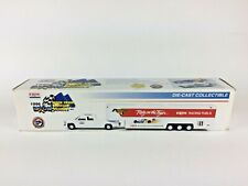 EXXON RACING FUELS RACE TEAM SUPPORT VEHICLE- TRAILER W/ CARS- NEW IN THE BOX!!!