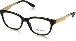 VERSACE Eyeglasses VE3240 GB1 54mm Black-Gold / Demo Lens [54-16-140]