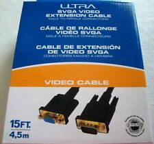 New! Ultra 15FT SVGA Video Extension Cable - 15FT, Male To Female