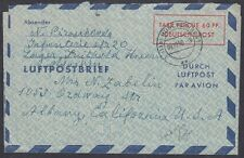 BERLIN, 1950. Aerogramme Am/Br LF3, Albany, Ca