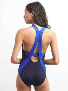Gap GapFit Women's Navy Colorblock One Piece Swim Suit Sz. M Medium NWT