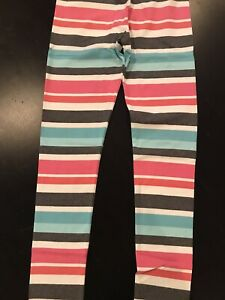 NWT New Enchanted Winter Gymboree Girls Leggings Size 10 12 Pink Blue Striped