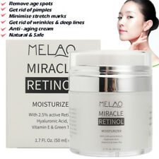 Retinol 2.5% Face Cream Serum Wrinkles Anti-Aging Hyaluronic Acid Vitamin E