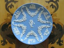 Vintage Wedgwood Blue Jasperware Collector's Society Floral Girl Trophy Plate