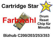 Drum Trommel Reset Chip für Konica Minolta Bizhub C200 C203 C253 C353 (Farbwahl)