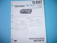 Service Manual-Anleitung für Sony  TA-D507 ,ORIGINAL