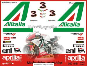 Aprilia Alitalia Biaggi 2010 WSB  decal set