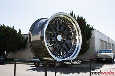 18x8.5 Inch +30 ESR Sr01 5x114.3 Gunmetal Wheels Rims Civic G35 350z GS300 IS