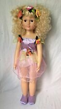 Uneeda Fairy Doll TS20 Blonde Curly Hair Blue Sleep Eyes 27""