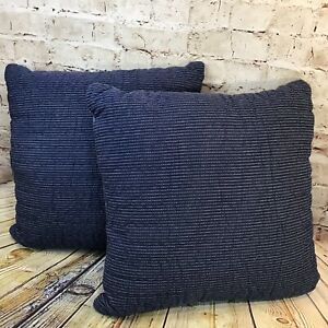 """Levi's x Target Limited Edition (Set of 2!) 18""""x18"""" Navy and Blue Throw Pillows"""