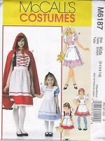 McCall's Sewing Pattern Misses & Girls Storybook Costumes 3-8 Sml-Xlg  M6187
