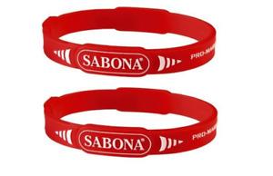 2 Pack - Sabona Pro-Magnetic Sport Magnetic Bracelet, Red, S-M