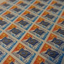 FEUILLE SHEET TIMBRE DE SERVICE EUROPE N°48 x50 1975 NEUF ** LUXE MNH COTE 200€