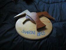 Handmade decorated Vintage Wood Carved Birds, Customized Wood Birds, Wood Birds