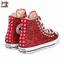 converse all star borchie borchiate e glitter interno ed esterno