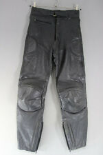 J&S CLASSIC BLACK LEATHER BIKER TROUSERS: WAIST 30 INCHES/INSIDE LEG 29 INCHES