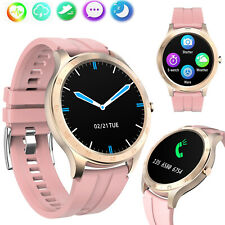 Pink Smart Watch Touch Screen Wristwatch Heart Rate Monitor For Women Girls Lady