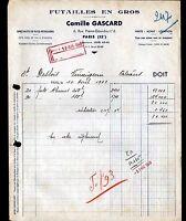 """PARIS (XIII°) FUTAILLES / FUTS """"Camille GASCARD"""" en 1948"""