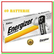 pile energizer industrial aaa batterie mini stilo alcaline pila batteria x40