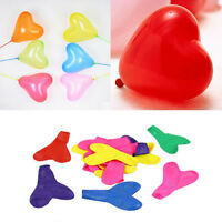 100 pcs Red Heart Shaped Latex Balloons Wedding Birthday Party Decoration