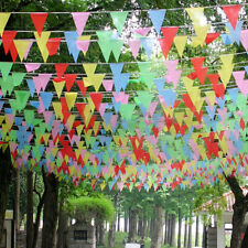 120 Banderas Banner Multicolor Triángulo empavesado Fiesta Decoración al aire libre Banderín