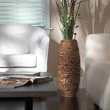 Hosley Brown WaterHyacinth Vase Woven Home Decor Big Tall Floor Plants Display