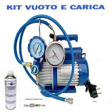 KIT CARICA E VUOTO POMPA 42 LT MANOMETRO RICARICHE GAS R410 R32 CONDIZIONATORE C