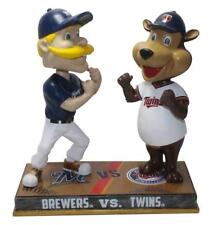 Milwaukee Brewers and Twins Bernie Brewer and T.C. Bear Rivalry Bobblehead MLB