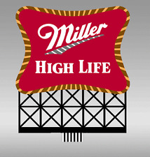 Miller Beer Billboard Animated Neon Sign - Ho/O Scale- Roadside Or Roof Top Sign