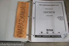 1997 MOPAR Dodge Chrysler (LH) Concord LHS Intrepid 300 Parts Catalog Manual