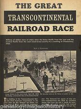 Great Transcontinental Railroad Race + Genealogy