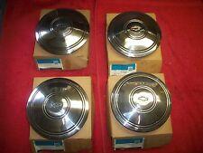 Chevy rally wheel NOS Police center caps in GM boxes Camaro Nova Chevelle Impala