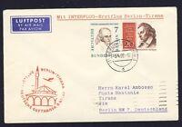 43948) DDR DH FF Berlin - Tirana 8.4.60, Brief ab Berlin Friedenau (West) MiF