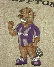 BLUFFTON COLLEGE Beavers Volleyball tee XXL mascot Ohio T shirt retro 2XL
