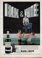 1963  Black & White scotch whisky buchanan's  Scotland  Magazine PRINT AD