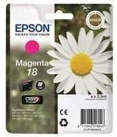 Epson Daisy 18 Series T1803 Magenta Ink Cartridge C13T18034010 PINK RED XP-405