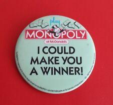 Vintage McDonald's Monopoly 3.5'' Button