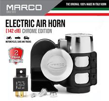 Marco Chrome Compact Harmonic Dual Tone Air Horn Electric Loud Car Motorcycle