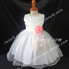Robes soirées blancs en polyester pour fille de 2 à 16 ans