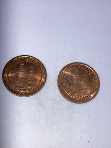 Gibraltar coins - 1994 2 pence x2
