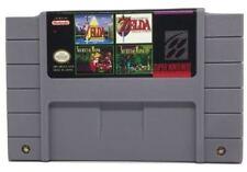 4 in 1 Multicart Super Nintendo SNES Zelda Secret of Mana 1 & 2
