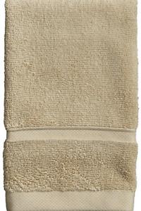 NEW FRETTE Hotel Lanes Border Washcloth Face Desert Sand Beige 650 Grams Cotton