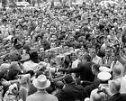 JOHN F. KENNEDY GREETS FORT WORTH CROWD NOVEMBER 22, 1963 - 8X10 PHOTO (EP-773)