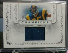 2008 PlayoffNationalTreasure Jack Youngblood L. A Rams ChampionsJumboRelic#06/25