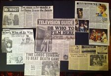 Dr Who Press Clipping LOT-AUSTRALIA newspaper  Peter Davison,Scrapbook RARE