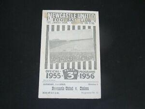 1955-56 DIV 1 NEWCASTLE UNITED v CHELSEA