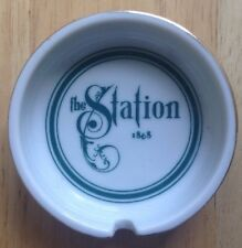 1970s THE STATION 1868 RESTAURANT WARE ASHTRAY, PORCELAIN, WILKES-BARRE, PA
